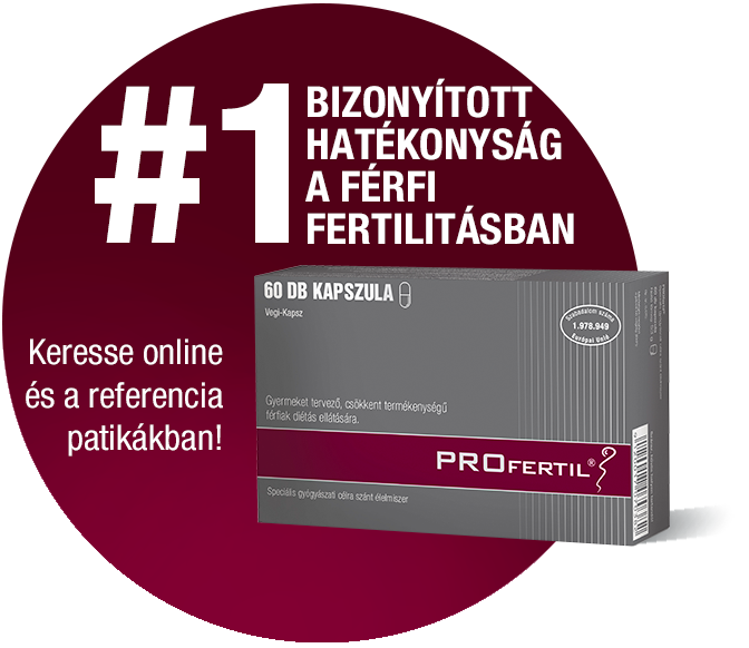 #1 bizonyított hatékonyság a férfi fertilitásban